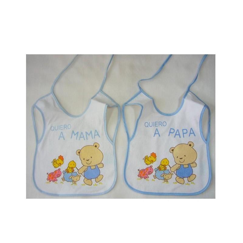 BABERO ESTAMPADO + EVA (2 PIEZAS) 27X37 -5022